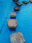 steps in water